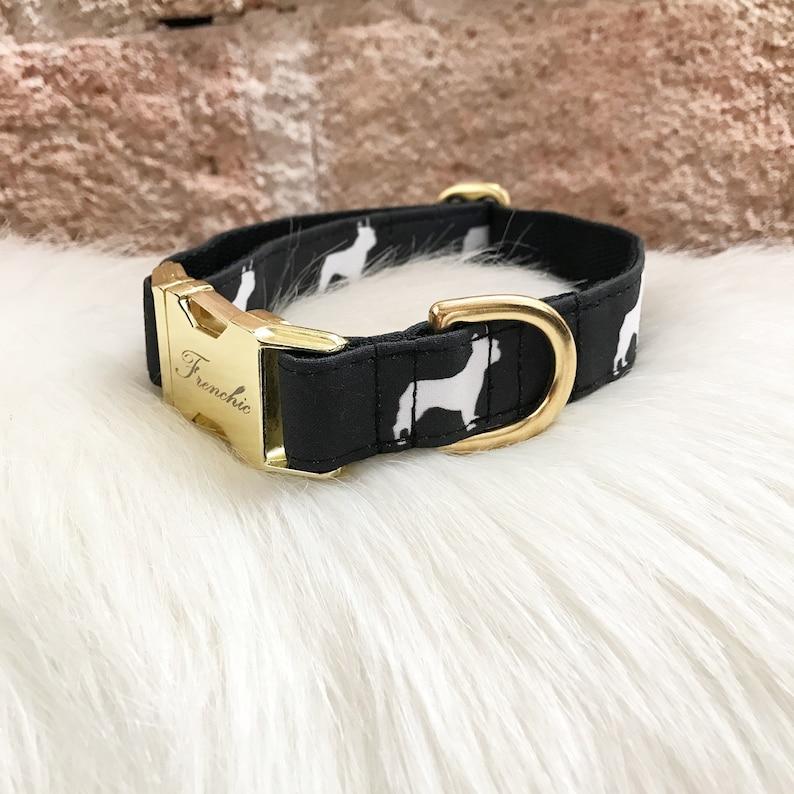 Adjustable dog collar Frenchies image 0