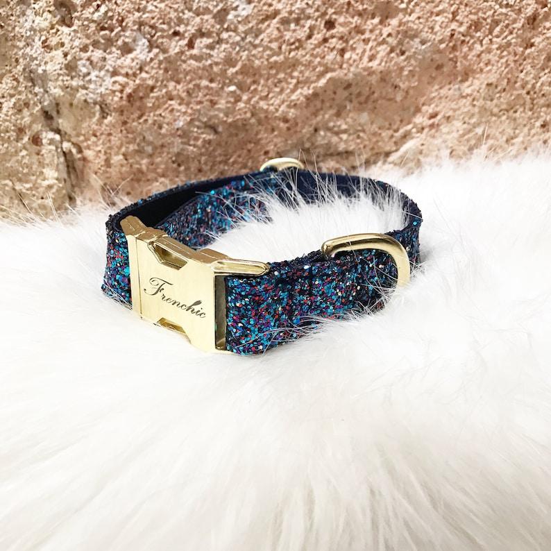 Adjustable dog collar Glitter image 0