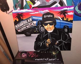 EAZY E  Straight Outta Compton NWA 20x16