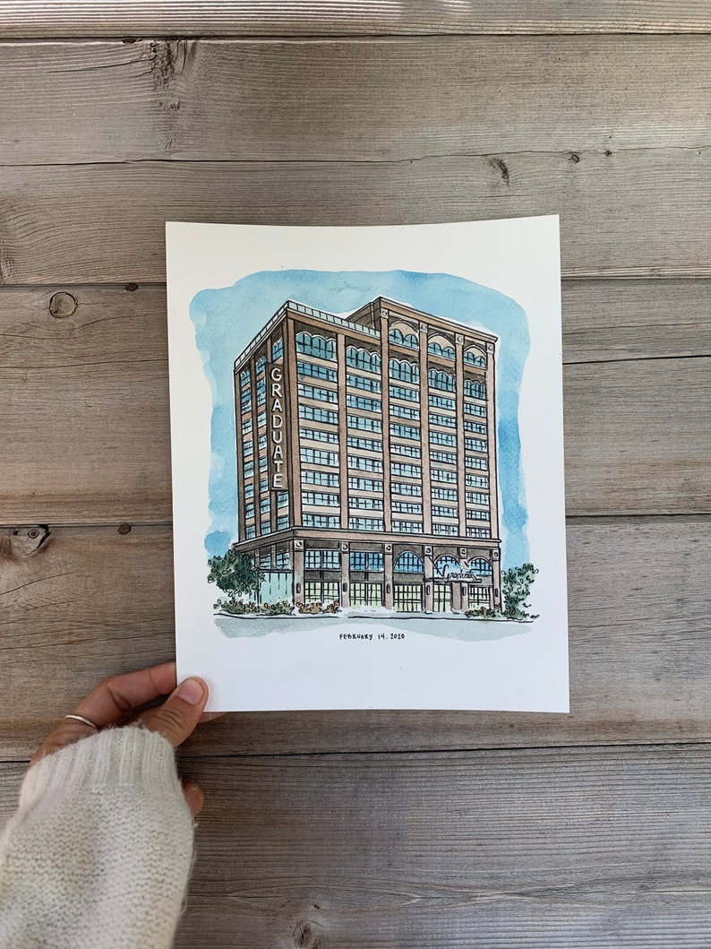 venue drawing anniversary gift wedding venue illustration Wedding Ceremony sketch Wedding Venue Art gift for fiance gift for wife