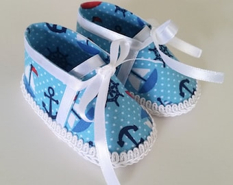 Baby Boy Shoes - Baby Boy Boots - Nautical Baby Shoes - Summer Baby Shoes - Patriotic Baby Boy Shoes - Unique Baby Shower Gift