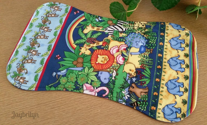 692cbb3cd7 Baby Burp Cloth Jungle Animal Print Baby Burp Cloth Three