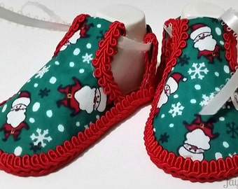 Christmas Shoes for Baby Girl - Newborn Baby Girl Shoes - Different and Unique Baby Shower Gift for Girl - Cute Holiday Shoes for Baby Girl