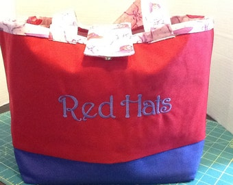 10 pocket red hats  tote bag