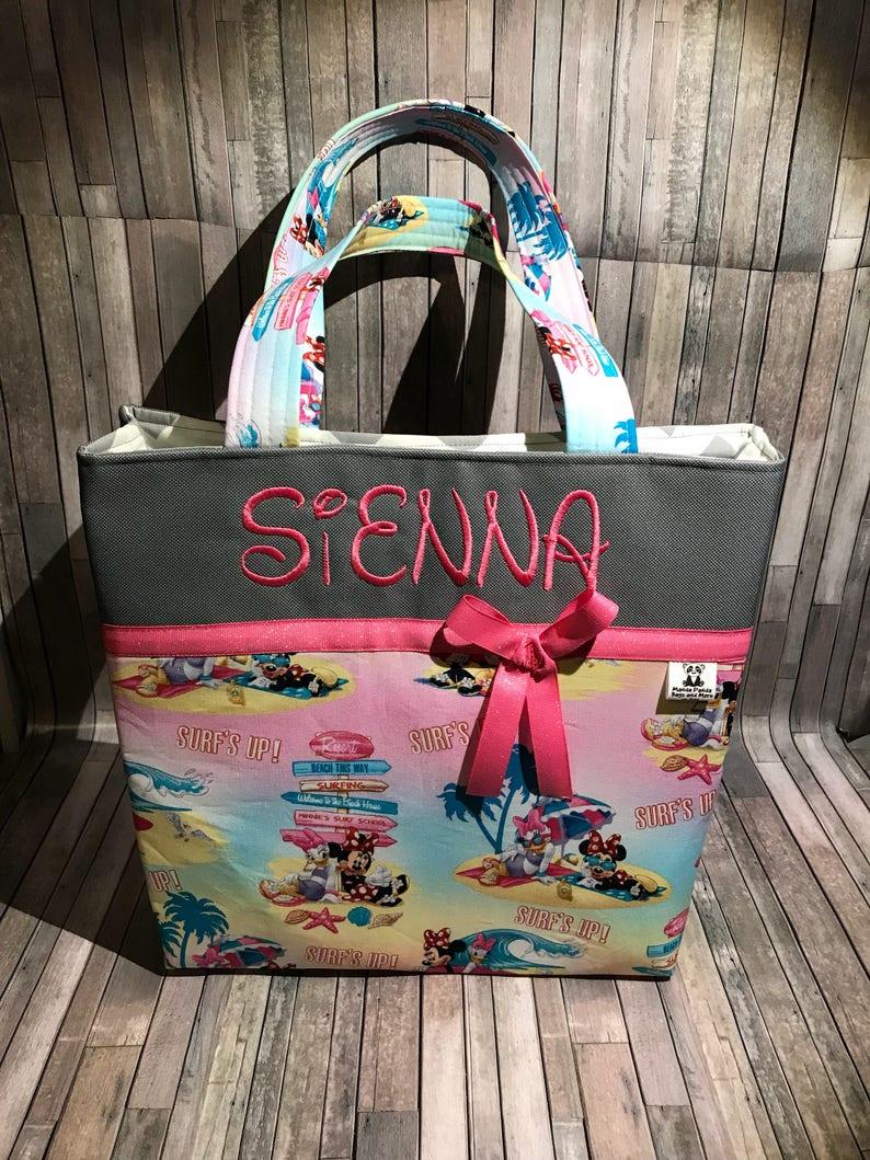Personalized Minnie Mouse diaper bag tote bag school bag disney fan gift