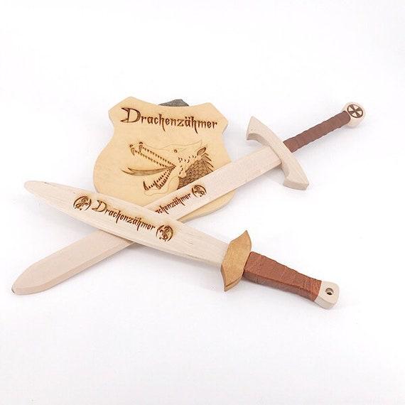 Ritter Schwert Klein Drache Drachenzähmer Geschenk Für Kinder Mit Name Und Gravur