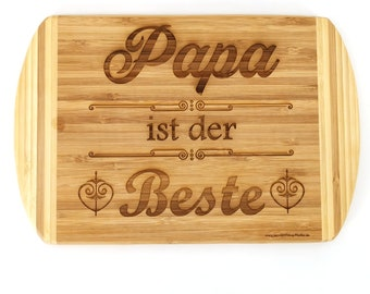 Breakfast Board Wooden Stud Board Board Wish Text Name Lettering Text Heart - Dad's Best - For the Best Dad in the World