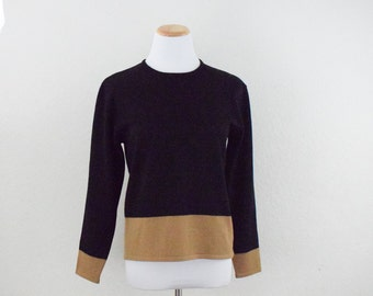 707226c570 FREE usa SHIPPING Vintage pullover knit blouse/ scoop neckline/ long  sleeve/acrylic wool/ Coldwater Creek/ minimalist/ size S