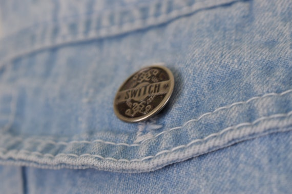 Denim Cropped Vest - image 8