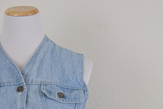 Denim Cropped Vest - image 6