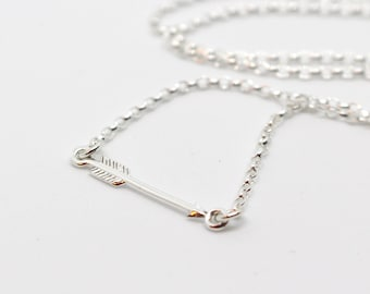 Sterling Silver Arrow Pendant Necklace - Gift for her - Gift for mum - UK Seller - Boxed Jewellery Gift - Arrow Jewellery