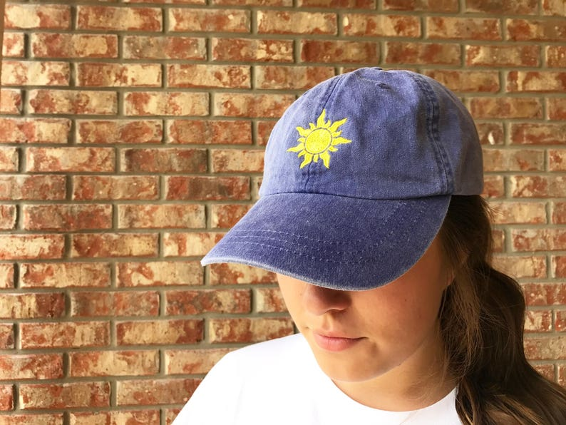 Tangled inspired Rapunzel s Sun Baseball Dad Hat  315606726ac