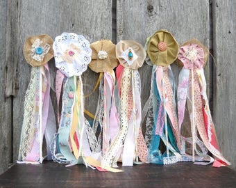 Woodland flower wands, set of 6, fairy princess, flower girl & bridesmaid bouquet alternative, boho birthday party favors
