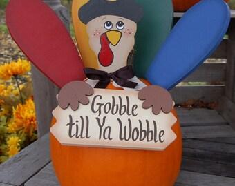 Pumpkin Poke - Fall Turkey - Gobble till ya Wobble