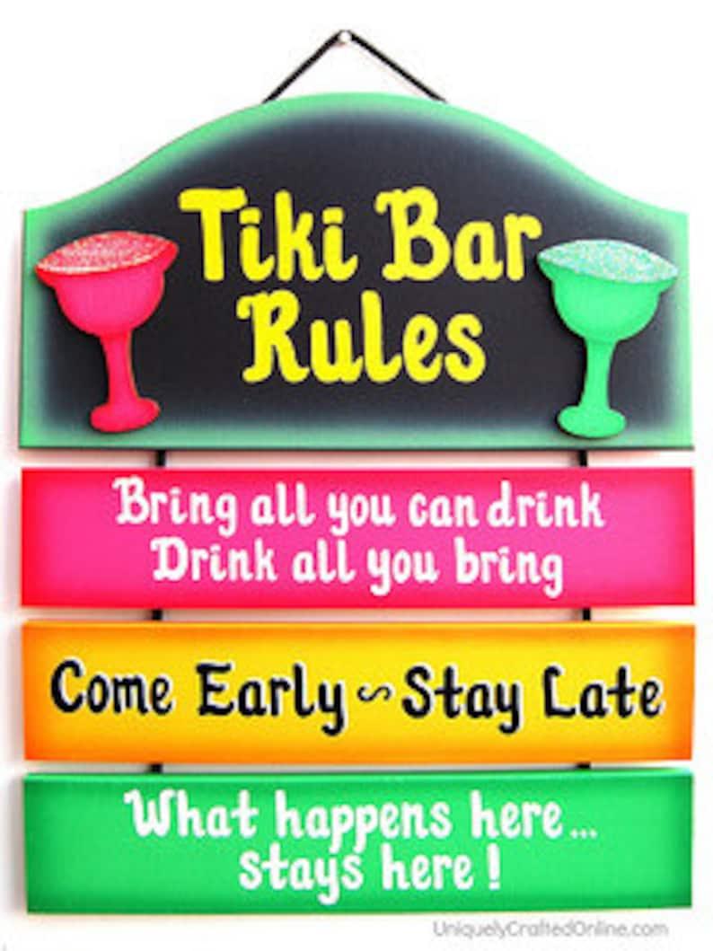 Tiki Bar Sign Etsy