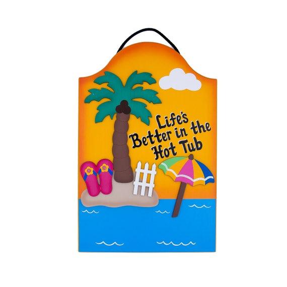 SKINNY DIP CHUNKY DUNK Surfboard POOL SIGN Deck Tiki Hot Tub Patio Wall Plaque