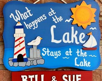 Lake Nautical Sign-What Happens at the Lake...Stays at the Lake!