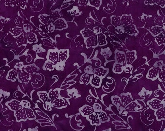 Floral Batik - Tone on Tone-   Coastal Chic - Maywood Studio MAS B25 026 Dark Purple  - Priced by the half yard