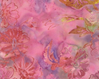 Tonga Batik Fabric - Tonga Batik Dragonfly collection Lily Pad - Timeless Treasures B6639 Orchid - Priced by the 1/2 yard