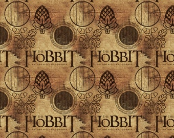 Hobbit Fabric, Lord of the Rings, The Shire - Unexpected Journey - Camelot 242100005-1  - Priced by the 1/2 yard - Digital Print