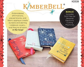 Kimberbell - Noteables, Volume 1 # KD539 Book Cover Journal Cover  -  Machine Embroidery - DIY Project