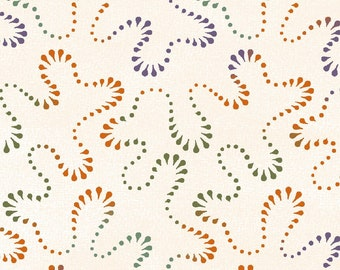 Happy Jacks & Friends  Flannel Fabric - Bonnie Sullivan for Maywood Studios - Stippling Cream F9404 E - Priced by the 1/2 yard