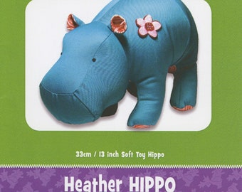 Hippopotamus Stuffed Toy Pattern - Funky Friends Factory designed by Pauline - Heather Hippo 4095 - DIY Pattern