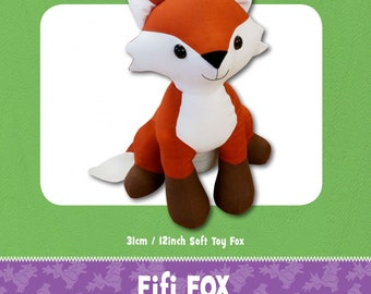Fox Stuffed Toy Pattern - Funky Friends Factory designed by Pauline - Fifi Fox 4675 - DIY Pattern