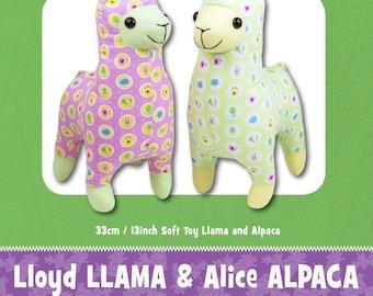 Llama & Alpaca Stuffed Toy Pattern - Funky Friends Factory designed by Pauline - Lloyd and Alice 4668 - DIY Pattern