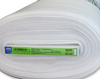Fusible Fleece - Pellon 987 Interfacing - White - Priced by the half yard