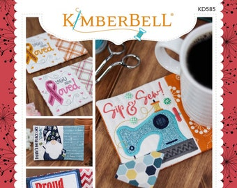 Kimberbell - In The Hoop - Holiday & Seasonal Mug Rugs  Volume 3  KD585 - CD Machine Embroidery