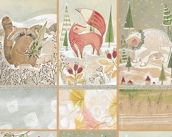 Blend Fabrics - Gatherers in the Forest Winter News by Cori Dantini - 112.117.02.1 - Priced by the Panel