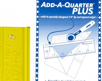 Add A-Quarter Ruler, Foundation Piecing, Quilting Ruler, Template Edge Ruler - CM Designs, Carolyn McCormick - 6in Plus CM06PLUS