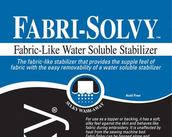 "Sulky - Fabri-Solvy Water Soluble Stabilizer - Heavy Weight Embroidery stabilizer - Precut Sheet 20"" x 36"" One per pack 407 01 White"