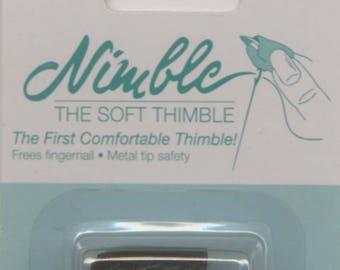 Leather Thimble, Finger Thimble -  Nimble Thimble  - Small, Medium, Large - English Paper Piecing