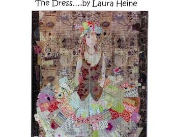 The Dress Collage - Laura Heine Pattern - Applique Quilt - Flaura, Vintage Trailer - DIY Pattern Or Kit Option - full size reusable template
