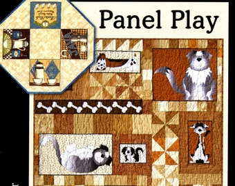 Quilt book, quilt pattern book - Panel Play by Barbara Becker - FRP 200 - Softcover