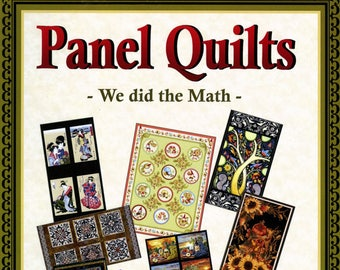 Panel Quilts Book - We did the Math - Softcover # LLS901 - Quilt Woman.com By Lacey J Hill & Lorraine Freed - Do It Yourself Project