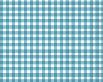 Quilters Road Trip - Gingham Coordinate - Beautiful Basics from Maywood Studio - MAS 610 Q2 Blue - Priced by the half yard