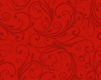 Winter Frost Flannel - Jan Shade Beach for Henry Glass - F9222 88 Red - Priced by the 1/2 yard