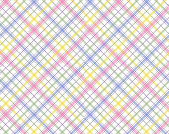 Spring Beauty Light Bias Spring Plaid Fabric - Geometric by Timeless Treasures C7578 Multi - Priced by the Half yard