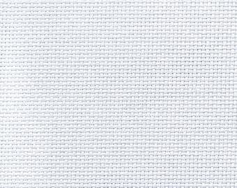 14 Count Aida Cloth - Cotton Aida - Embroidery Cloth - AIC14 White - Choose Size