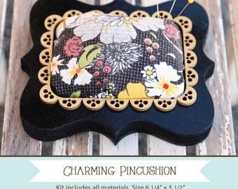 Pincushion kit, no sew project - AdornIt Charming Pin cushion -14001 DIY Complete Kit
