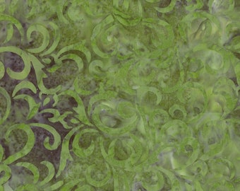 Swirl Batik - Marbled Batik -  Coastal Chic - Maywood Studio MASB21 021 Medium Green - Priced by the half yard