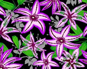 Ubuntu Star Flower - Paintbrush Studio Fabric - 120-99821 Purple - Priced by the half yard