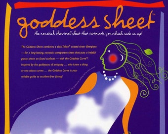 Goddess  Applique Pressing Sheet - press sheet Fiberglass Non-stick Ironing & Craft Sheet - 10x16 Reusable sheet