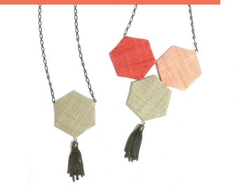 Necklace Making Kit - English Paper Piecing kit by Violet Craft - DIY Project