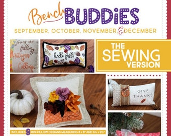Kimberbell - Sewing Version - Bench Buddies - Fall and Winter Projects - Pattern & Instructions - DIY