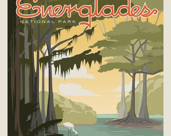 Florida Everglades National Parks Fabric Poster - Anderson Design Group for Riley Blake C8934 - 36-Inch Panel