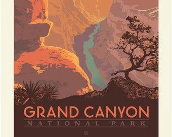 Grand Canyon National Parks Fabric Poster - Anderson Design Group for Riley Blake C8933 - 36-Inch Panel